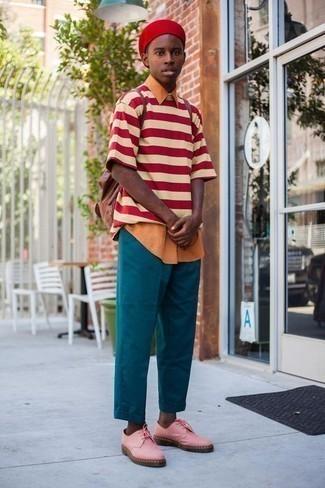 Pantalon chino bleu canard ASOS DESIGN