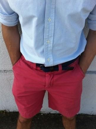 Chemise à manches longues à rayures verticales bleue claire Etro