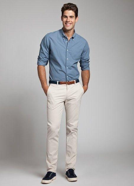 pantalon beige homme avec quoi. Black Bedroom Furniture Sets. Home Design Ideas