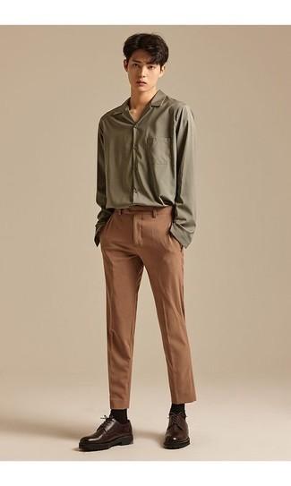 Pantalon chino marron Jack & Jones