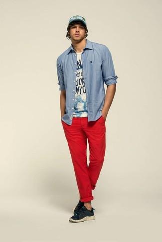 Chaussures Chino Chaussures Avec Avec Chino Chino Avec Rouge Chaussures Rouge FJT1Kl3c