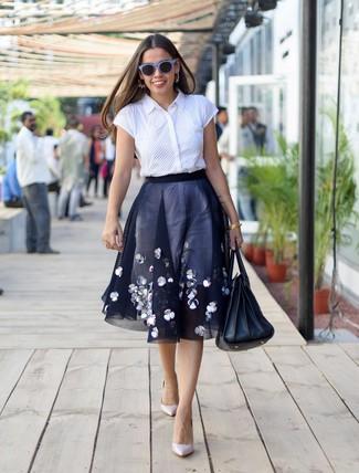 Chemise boutonnée à manches courtes blanche Sies Marjan