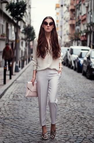 Chemise de ville en soie blanche Ungaro