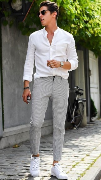 costard gris baskets adidas homme