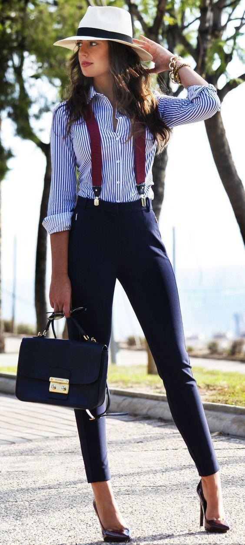 b071be3a5 Comment porter des bretelles avec un pantalon slim (6 tenues)   Mode ...