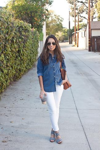 Chemise en jean bleue Fabiana Filippi