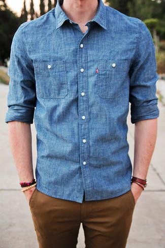 Chemise en jean bleue Lee