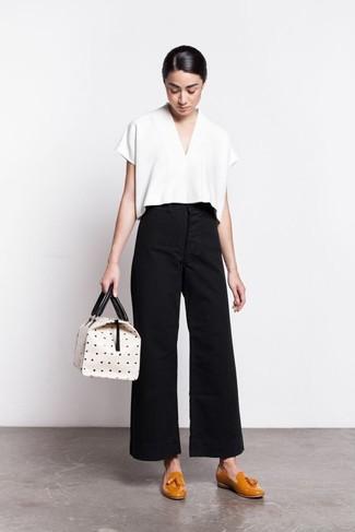 Pantalon large noir Carven