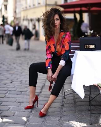 Chemisier à manches longues à fleurs multicolore Isabel Marant Etoile