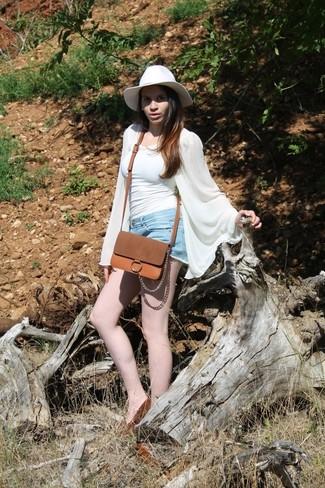 Chapeau en laine blanc Janessa Leone