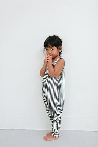 Comment porter: combishort à rayures blanc et noir