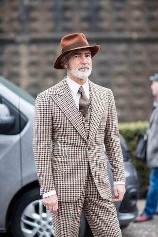 Cravate en laine marron Brunello Cucinelli
