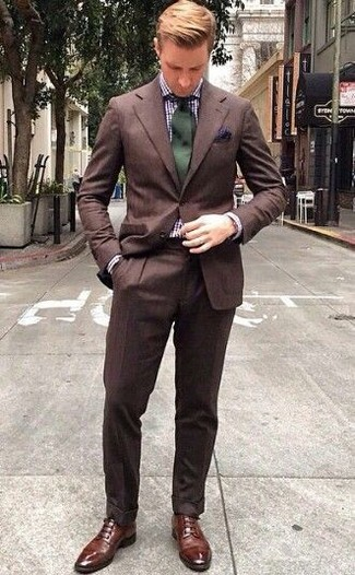 Chaussures derby en cuir marron Selected Homme