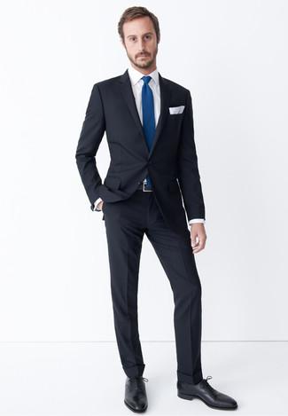 Tenue Costume Noir Chemise De Ville Blanche Chaussures