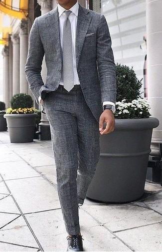 Costume en laine gris Armani Collezioni