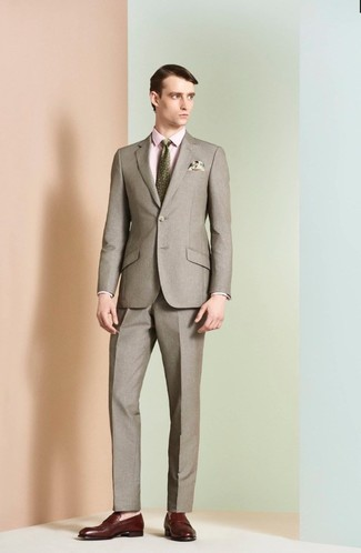 Pochette de costume imprimée beige Eleventy