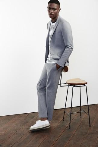 Baskets basses en cuir blanches Mason Garments