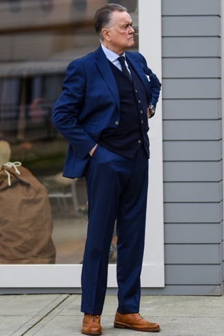 Pull bleu marine Gant
