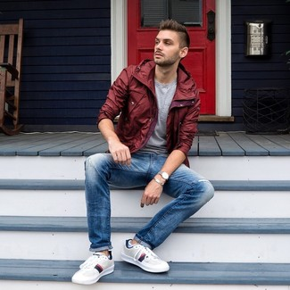 Veste bordeaux Franklin & Marshall