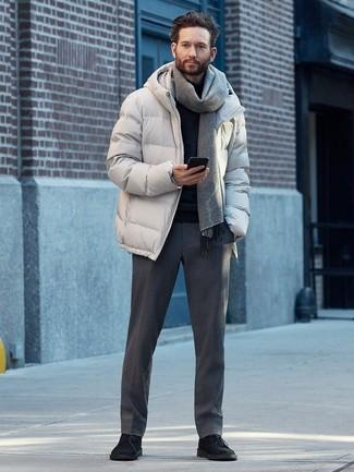 Mode hommes › Mode hommes années 30 Tenue  Doudoune grise 438c2316ce8
