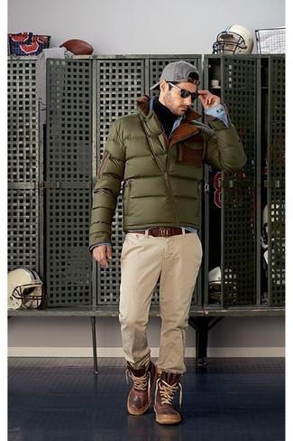 Mode hommes › Mode hommes années 30 Tenue  Doudoune olive f324b7c1b6e