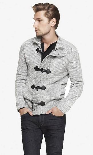 T-shirt à manche longue et col boutonné noir Tom Ford
