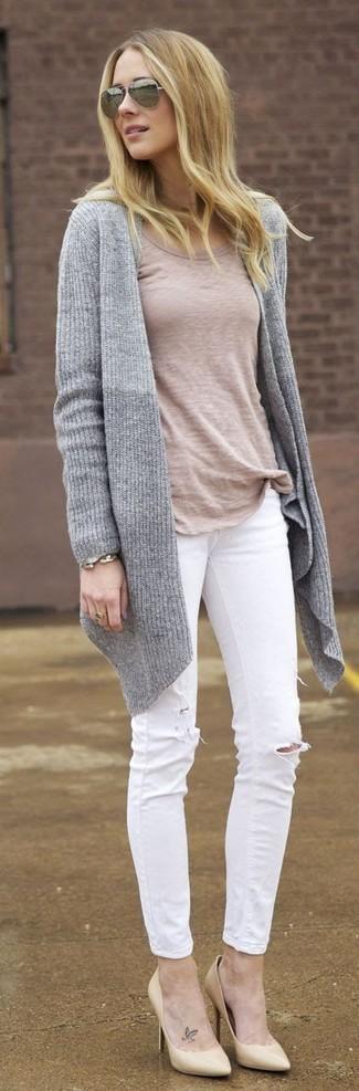 Escarpins en cuir beiges Gucci