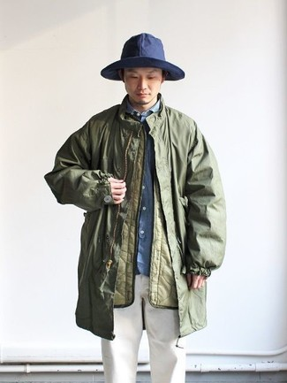 Imperméable olive Woolrich