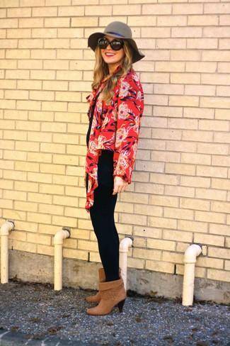 Tenue  Kimono à fleurs rouge 0b8c19ed5fb