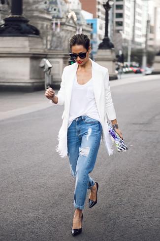 Manteau blanc Lanvin