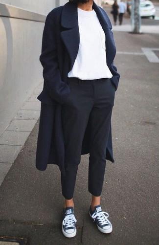 Manteau bleu marine Only