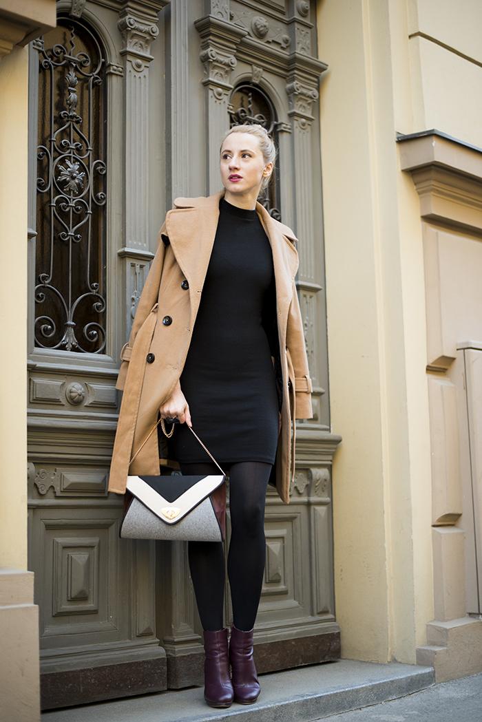 manteau-brun-clair-robe-moulante