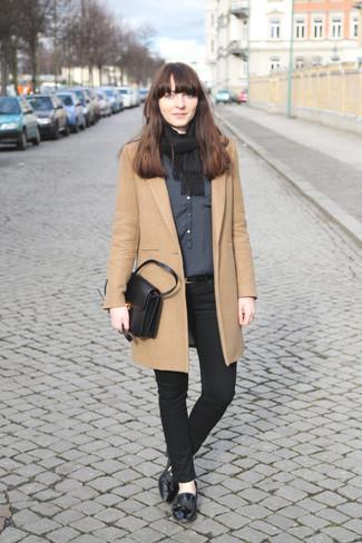 Manteau marron clair Proenza Schouler