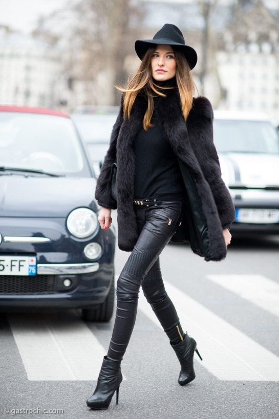 Hervorragend Comment porter un pantalon slim en cuir noir en 2017 (300 tenues  QM32