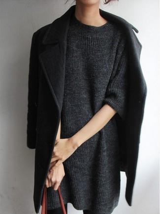 Comment Pull Grise Porter Robe Une 6 Manteau Un Noir Avec Tenues CFrpxCa