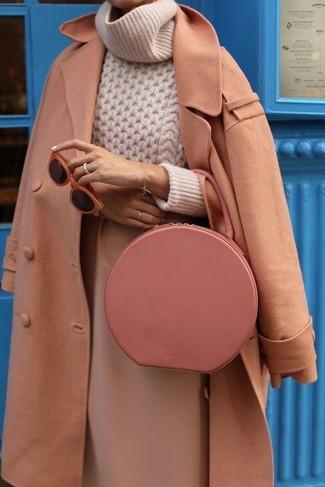Pochette en cuir rose Jil Sander
