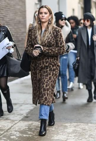 8b61ae6e73c Comment porter un manteau imprimé léopard (25 tenues)