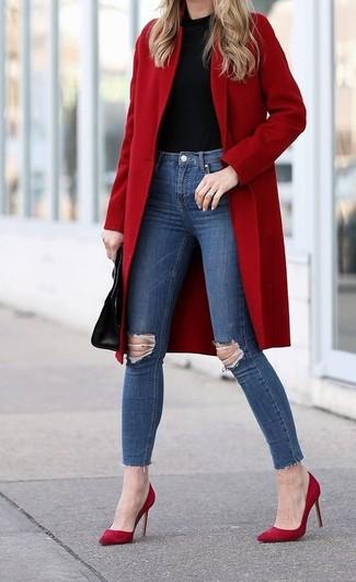 52ec17dedb3b Comment porter un manteau rouge (164 tenues)