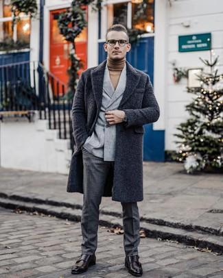 Pantalon de costume en laine à carreaux gris foncé Ermenegildo Zegna