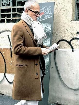 Pardessus marron clair Valentino