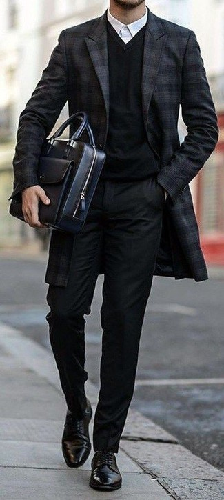 Pull à col en v noir Gant