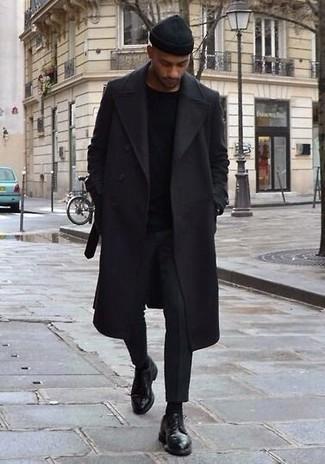 Bonnet noir Emporio Armani