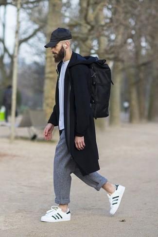 Pantalon chino en laine gris Asos