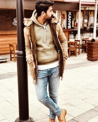 Pull marron clair Tommy Hilfiger