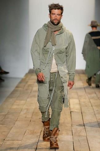 Pantalon cargo olive Schott NYC