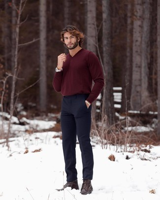Pull bordeaux Tommy Hilfiger