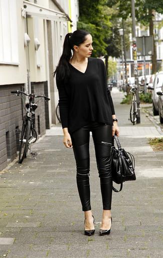 Montre en cuir noire Marc by Marc Jacobs