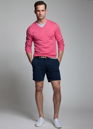 Pull fuchsia Hackett London