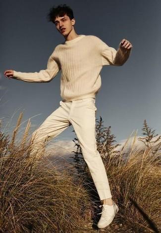 Pull beige Tommy Hilfiger