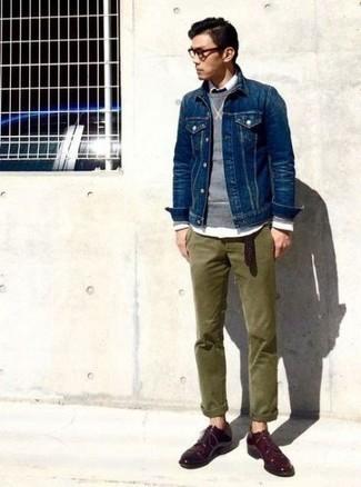 Chemise en jean bleu marine Givenchy